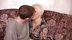 Horny mother wakes up her young lover