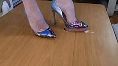 sharp 5mm heels tear into his cock until he cums!