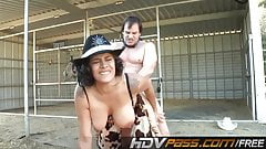Big Titted MILF Raylene Fucking On Evans Farm