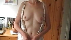older amateur wife stripping nude