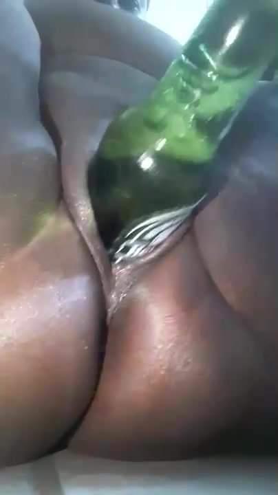 black women masturbating with a bottle