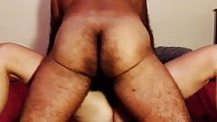 Hairy amateur wife real orgasm taking control of dick