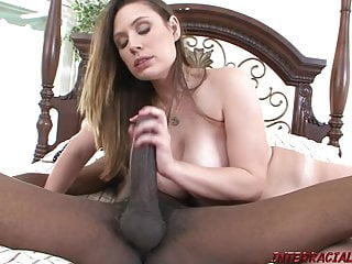 Mom with huge boobs rides big black anaconda dick
