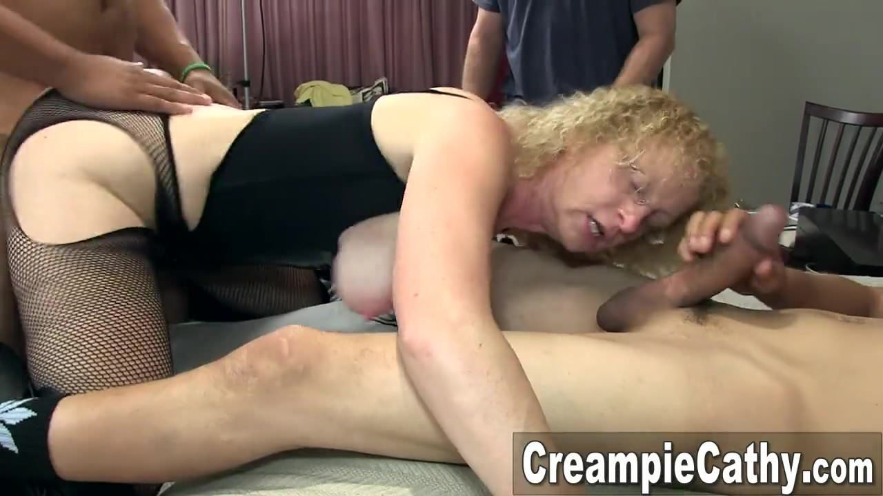 Naked woman getting pussy ate