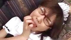 Japanese Megane - Nerd Maid licks, sucks and fucks