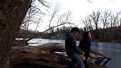 Teens fucking outdoors