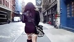 Candid Leather Girls #2