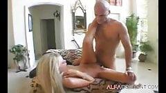 Blonde babe Keri can't get enough of big hard cock