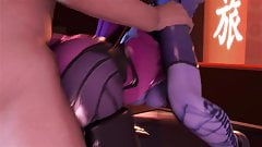 Overwatch - Widowmaker blowjob and anal