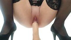 nice girl and dildo