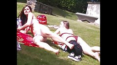 Bikini Teens in the Park