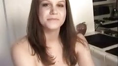 Sara On it`s very HOT  Interview And Striptease