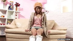 Japanese teen, Rio Haruna is masturbating for the camera, un
