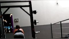 Fit girl nice ass squats at the gym