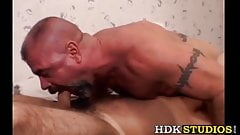 Sexy bears have fun blowing dicks and ass fucking raw
