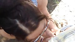 giving head in nature and moaning