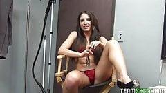 ThisGirlSucks Small tits latina teen Giselle Leon handjob bl