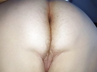 wifes big white hairy unaware ass