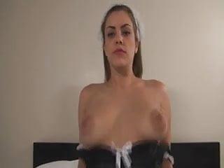 Katie Cummings masturbates her tight pussy.