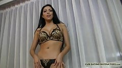 I want you to taste your own cum for me CEI