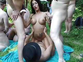 german outdoor summer groupsex orgy