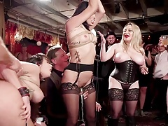 BDSM swingers orgy with glitter & electro beatings