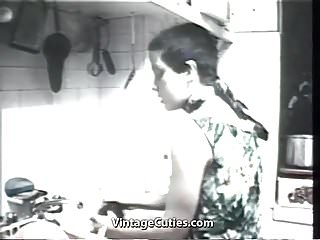 Preview 1 of Tough Penetration in a Small Kitchen (1960s Vintage)