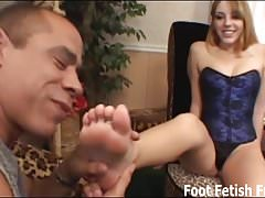 Worship my feet and I will jerk you off with them