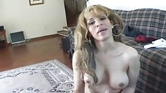 Busty babe sucks cock perfectly