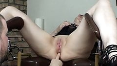 Chubby german mature anal fingered and toyed