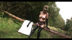 British trophy wife in the woods