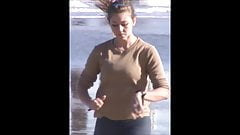 Spy beach pokies slow motion jogger