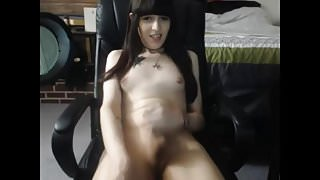 Teenager White T-girl Cum