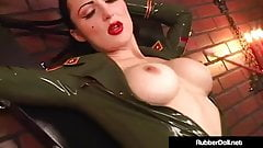 RubberDoll & Ruby Luster Do Underground Bunker Latex Fucking