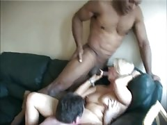 Hubby shares hot mature wife with black friend Thumbnail