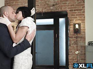 Amazing tattooed brunette slut receives a hard anal slamming