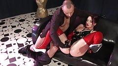 Kinky Slut Fucks In Oily Latex