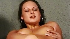 Naughty east euro girl bates and gets a facial porn image
