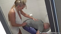 Naughty granny toys her cute fuckers ass before being banged's Thumb