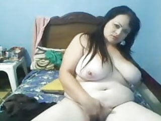 Colombian bitch showing her big tits and cumming (Part 1)