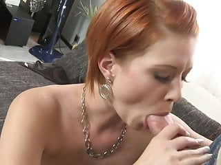 Lovely young mom jumping on fat cock