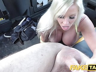 Fake Taxi Big tits blonde Michelle Thorne greedily sucks