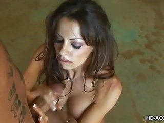 Preview 6 of Super hot brunette pornstar jerking the fat erect dick