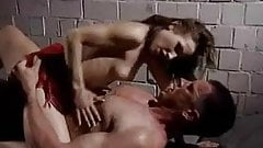 Tiny woman and tall guy suck, lick and fuck