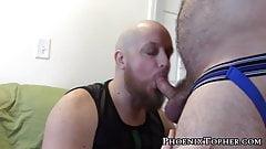 Jockstrap bear breeding his favorite bald cub