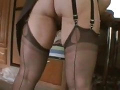 Nice ass and corset playing with herself nt