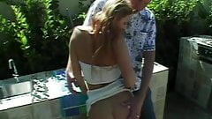 Father And Stepdaughter Outdoor Garden Fuck