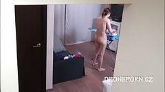 Czech teen Naked ironing