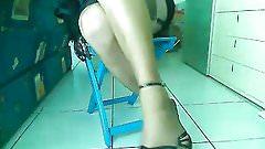 Legs in brown nylons