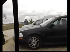 Car park upskirt pussy show.flv